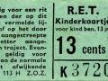 RET 1965 kinderkaartje 13 cts (113H) -a