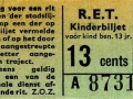 RET 1965 kinderkaartje 13 cts (211A) -a