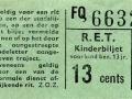 RET 1965 kinderkaartje 13 cts (211C) -a