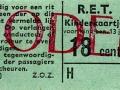 RET 1965 kinderkaartje 18 cts (114J) -a