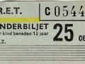 RET 1965 kinderkaartje 25 cents (161) -a
