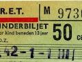 RET 1965 kinderkaartje 50 cents (106) -a