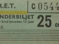 RET 1965 kinderkaartje stadslijn of buitentraject 20 cents (161) -a