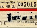 RET 1965 overstapbiljet 40 ct (13-) -a