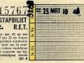 RET 1965 overstapkaartje 30 cts (221B) -a