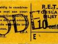 RET 1965 toeslagbiljet 10 cts (226A) -a