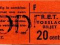 RET 1965 toeslagbiljet 20 cts (228) -a