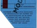 RET 1966 identiteitskaart maandabonnement 17,50 -a