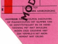 RET 1966 identiteitskaart maandabonnement 19,50 -a