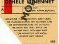 RET 1966 identiteitskaart maandabonnement 22,50 -a