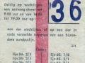 RET 1966 weekkaart stadslijnen of bijzonder traject 2,50  (371) -a
