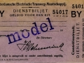 RETM 1927 Dienstbiljet een rit -a