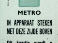 RET 1968 metro gratis kaartje (2) -a