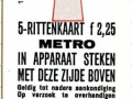 RET 1973 metro 5-rittenkaart 2,25 (11) -a