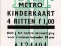 RET 1973 metro 4-ritten kinderkaart 1,00 (14) -a