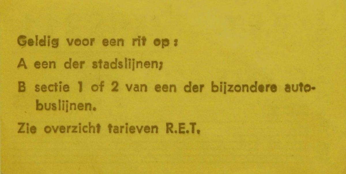 RET 1967 enkele reis 75 ct ongebruikt achterzijde (102) -a