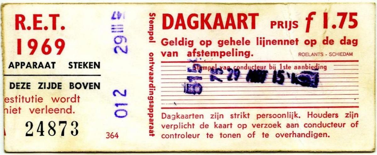 RET 1969 dagkaart 1,75 (364) -a