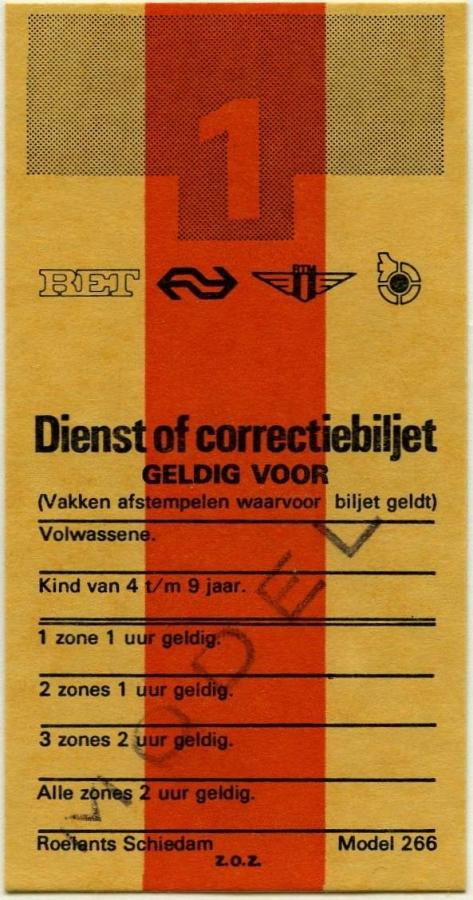 RET 1975 Dienst- Correctiebiljet (266) -a
