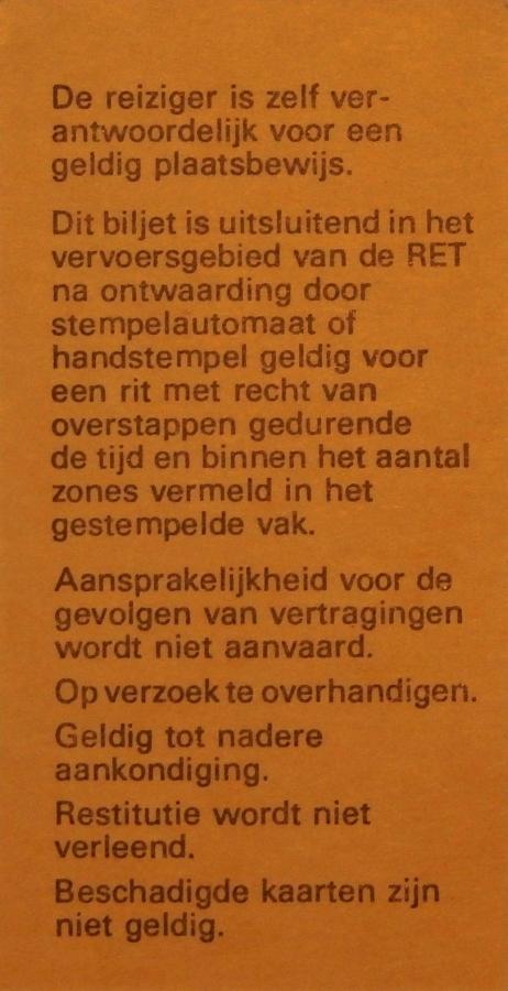 RET 1975 dienst of correctiebiljet achterzijde (266) -a