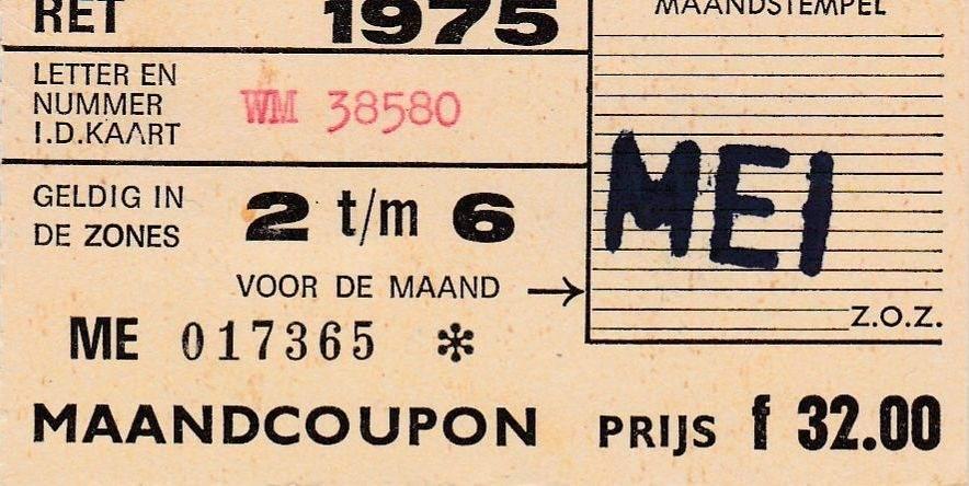 RET 1975 maandcoupon zones 2 - 6 32,00 -a
