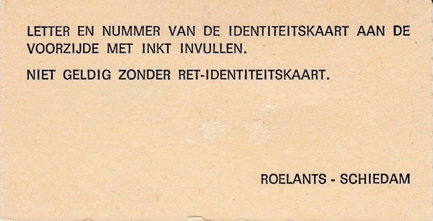RET 1975 maandcoupon zones 2-6 achterzijde 32,00 -a
