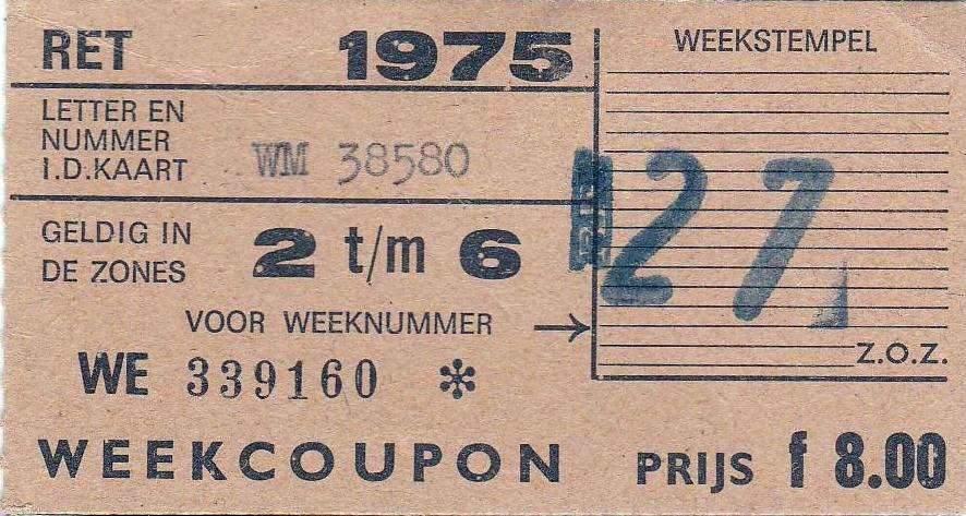 RET 1975 weekcoupon zones 2 - 6 8,00 -a