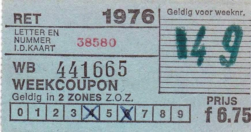 RET 1976 weekcoupon 2 zones 6,75 (30) -a