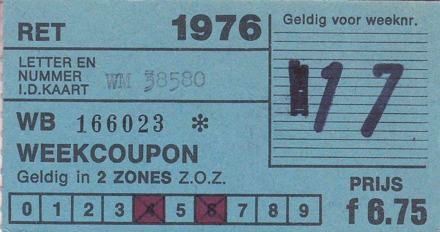 RET 1976 weekcoupon 2 zones 6,75 (31) -a