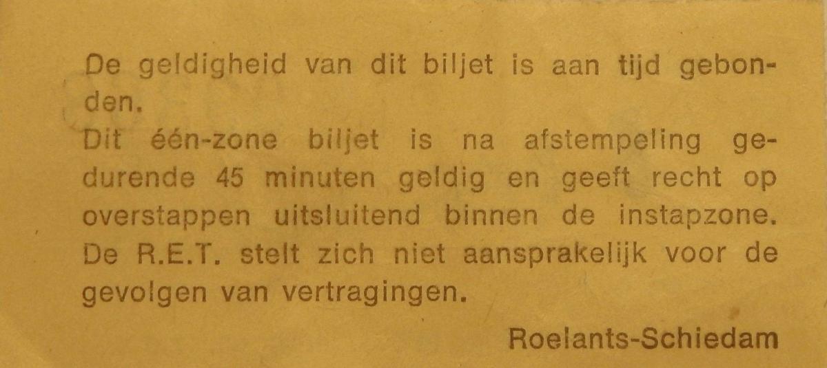 RET 1977 biljet 100 cts 1 zone achterzijde -a