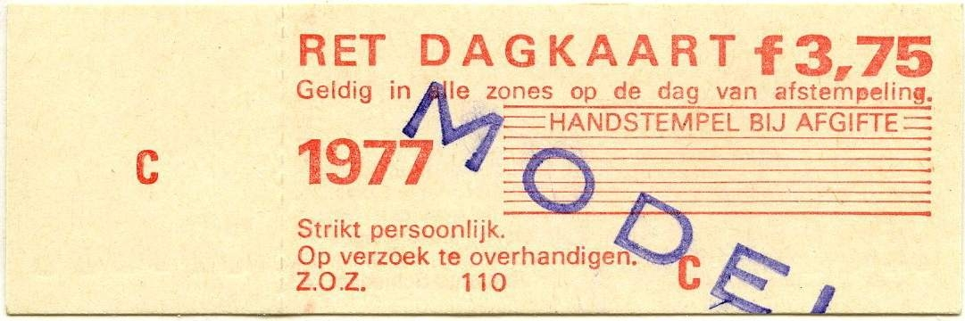 RET 1977 dagkaart (110) -a