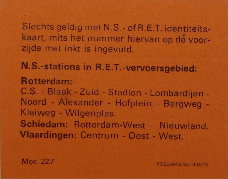 RET 1977 maandkaart 50,- RET achterzijde (227) -a