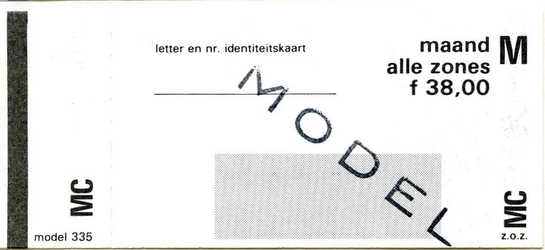 RET 1977 maandkaart alle zones 38,00 (335) -a