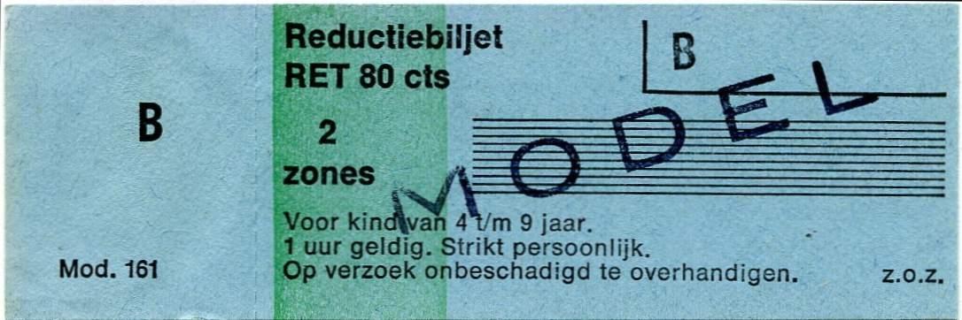RET 1977 reductiebilet 2 zones 80 cts (161) -a