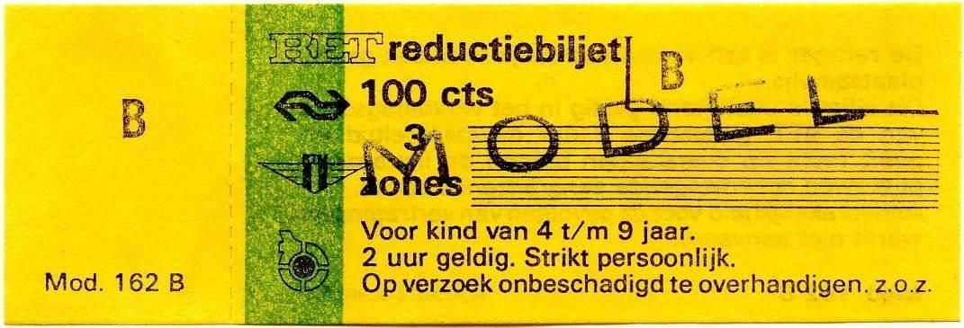 RET 1977 reductiebilet 3 zones 100 cts (162B) -a