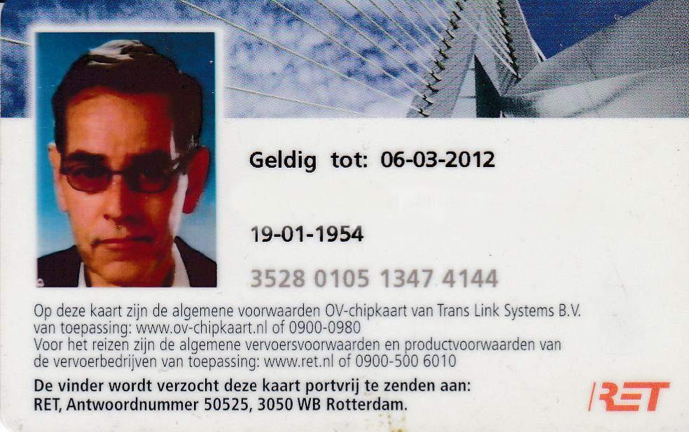 RET 2012 OV - Chipkaart -a