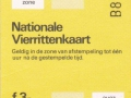 RET 1979 nationale vierrittenkaart 1 zone 3,00 (BIG-9122) -a
