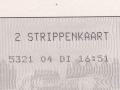 RET 2003 Nationale 2 strippenkaart  1,60 -a