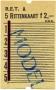 RET 1967 5-rittenkaart 2,00 -a