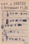 RET 1967 5 rittenkaart voorverkoop 1,25 (101A) -a