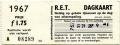RET 1967 dagkaart gehele lijnennet 1,75 (364) -a