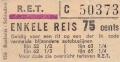 RET 1967 enkele reis bijzondere autobuslijn 75 cents (156) -a