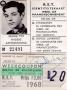 RET 1967 identiteits stamkaart (501) -a