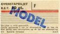 RET 1967 overstapbiljet 50 ct (313) -a