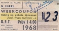 RET 1968 weekcoupon gehele lijnennet 4,00 )182 WB 233463' -a
