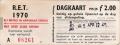RET 1970 dagkaart gehele lijnennet 2,00 (31) -a