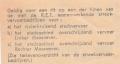 RET 1970 enkele reis bijzondere autobuslijn 95 cents achterzijde (46) -a