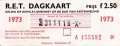 RET 1973 dagkaart gehele lijnennet 2,50 (21) -a