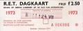 RET 1973 dagkaart gehele lijnennet 2,50 (21M) -a