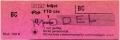 RET 1974 biljet 1 zone 110 cts (150B) -a