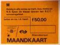 RET 1974 combi maandkaart NS-Streek 50,00 -a